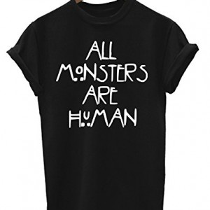 All-Monsters-Are-Human-Hommes-et-Dames-Mens-Ladies-Unisexe-T-Shirt-0