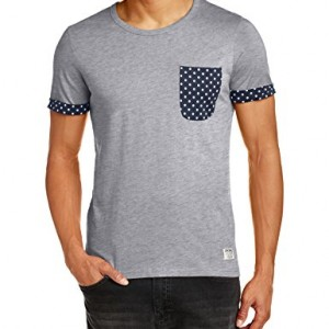 Jack-And-Jones-T-shirt-Uni-Col-ras-du-cou-Manches-courtes-Homme-0-1
