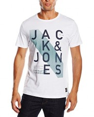 Jack-Jones-Jjcohatti-Tee-Ss-Crew-Neck-T-shirt-Imprim-Manches-courtes-Homme-0