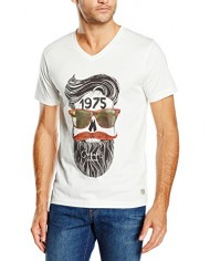 Jack-Jones-Jjorskunny-Tee-VO-Neck-T-shirt-Imprim-Manches-courtes-Homme-0