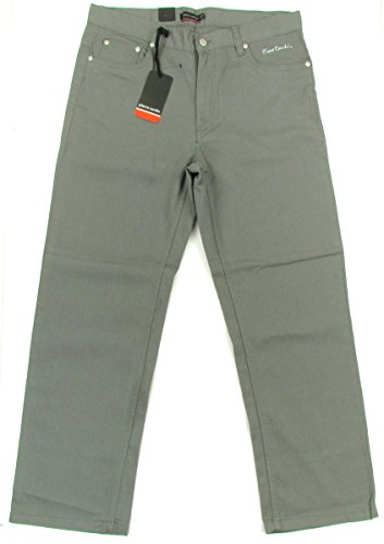 PIERRE-CARDIN-Bedford-Cord-Chino-homme-jeans-droit-army-griskaki-0