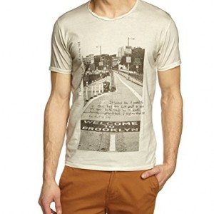 Selected-Welcome-T-shirt-Imprim-Manches-courtes-Homme-0