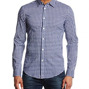 United-Colors-of-Benetton-Flannel-Gingham-Chemise-casual-Manches-longues-Homme-0