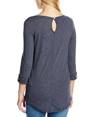 edc-by-ESPRIT-turn-up-sleeve-T-Shirt-Manches-34-Femme-0-0