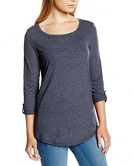 edc-by-ESPRIT-turn-up-sleeve-T-Shirt-Manches-34-Femme-0